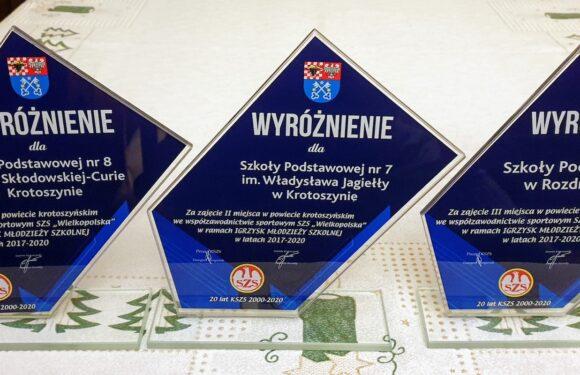 Wyróżnienia we współzawodnictwie sportowym szkół powiatu krotoszyńskiego