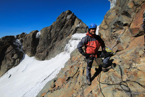 Rwenzori National Park - tuż przed ostatnim podejściem na Margherita Peak